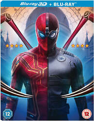 Spider-Man Far From Home 3D Blu-Ray & Blu Ray w Slipcover Pre-Order US Seller