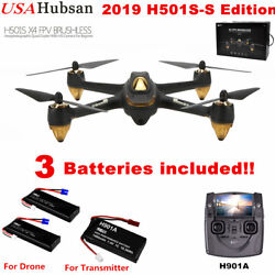 Hubsan X4 H501S Brushless Drone RC Quadcopter Live FPV 1080P GPS RTF3 Battery $159.00