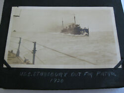 VINTAGE REAL PHOTO 1920 USS STANSBURY 180 WW1 NAVY DESTROYER OUT FOR PATROL