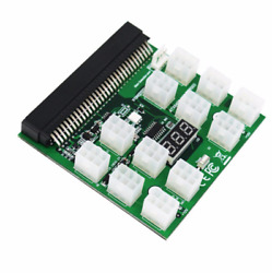 Breakout Board for HP Server Power Supplies GPUASIC Mining 12* 6Pin PCIe Slots