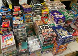 Fun Lot of 50 Unopened Old Vintage Baseball Cards in Wax Packs Huge Assortment $5.45
