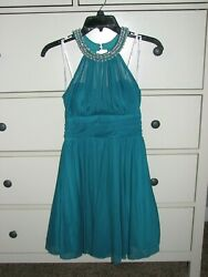 Speechless Special Occasion Party Teal Embellished Halter Dress size 3 **VGC** $10.00