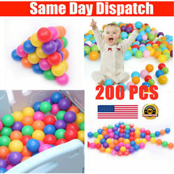Colorful Ball Soft Plastic Ocean Ball Funny Baby Kids Swim Pit Pool Toys US SHIP