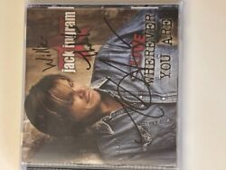 Live Wherever You Are by Jack Ingram (CD) SIGNED & FREE SHIPPING
