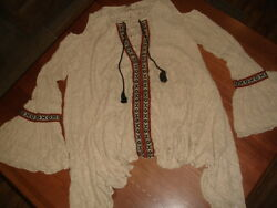 FREE PEOPLE BOHO FOR THE LOVE OF FLOWERS BELL COLD SHOULDER TAPESTRY TUNIC S $55.99