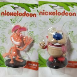 Nickelodeon 2018 Ren Hoek amp; Stimpy J. Cat 2quot; Figurines Lot of 2 New Nick Toons $9.99