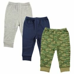 Luvable Friends Boy Toddler Tapered Ankle Pants 3 Pack Camo $13.99