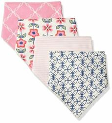 Touched By Nature Girl Organic Bandana Bibs 4 Pack Flower $12.99