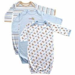 Luvable Friends Boy Sleep Gowns 3 Pack Blue Puppy $9.99