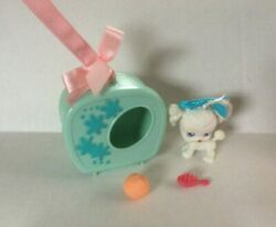 2004 Littlest Pet Shop #17 White Poodle wCarrying Case Complete