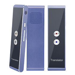 Two Way Easy Trans Smart Language Translator Device Electronic Pocket Voice-Blue