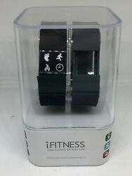iFitness Activity Tracker Smart Watch Black Gray Android iOS Fitness #A105