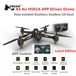 Hubsan H501A 5.8G FPV Drone 1080P Wifi Quadcopter Brushless GPS BatteryRelay $110.00