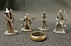 Lord of the Rings Monopoly Pewter Figures & Ring - Set of 5