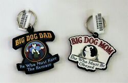 Big Dog Brand 2 Keychains She Who Must Be Obeyed - He Who Must Have The Remote