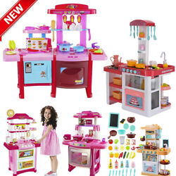 Portable Kitchen Playset Play Kids Pretend Play Toy Toddler Kitchenware Cooking