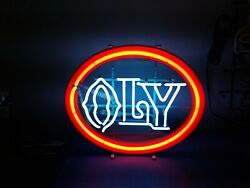 (VTG) 1970s olympia beer oly neon light up sign bar game room Washington rare