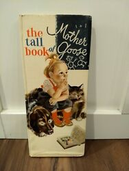 Vintage Book The Tall Book Of Mother Goose 1942 Hard Cover Feodor Rojankovsky