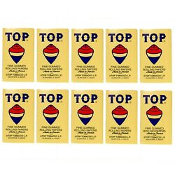 10 x TOP Cigarette Rolling Paper 100 Papers per Booklet Free Express Shipping $16.98