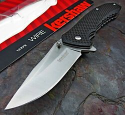 Kershaw Wire Assisted Opening Folding Pocket Knife Carbon Fiber Handle 8Cr13MoV $24.99