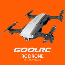 GoolRC H3 RC Drone Camera 4K Wifi FPV Optical Flow GPS Foldable Quadcopter Toy $39.99