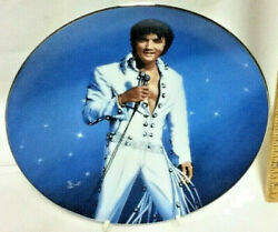 Elvis Presley King of Las Vegas Glass Collector Plate Be Mine Tonight S73 $34.99