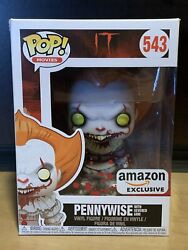 Funko Pop Pennywise with Severed Arm #543 IT Amazon Excl. + Protector