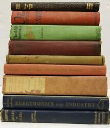 Lot of 10 Vintage Old Antique Hardcover Books - Mixed ColorYearGenre