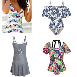 Lady Halter Bathing Cover up Short M 3X Bohemia Paded Swimming Beach Dress Skirt $16.71