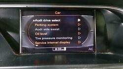 09-16 Audi A4 08-12 A5 S5 OEM Infotainment Center Screen Display 8T0057603F