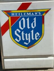(VTG) old style beer double bubble outdoor light up sign original box 48x48 new