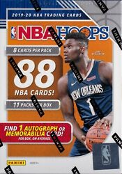 2019-20 Panini Hoops Basketball sealed blaster box 11 packs of 8 NBA cards 1 hit