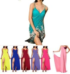 Women Swimwear Scarf Beach Cover Up Wrap Sarong Sling dress one Size S to M $7.99