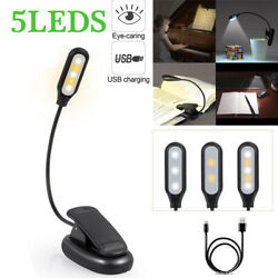 USB Mini Night Light Clip on Book Reading Eye Care LED Table Lamps for Kids GIFT $6.75