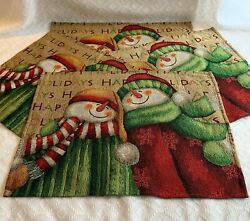Snowman Friends Tapestry Placemats 13