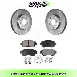 Front Ceramic Brake Pads & Rotors Kit for 1998-2003 Toyota Sienna