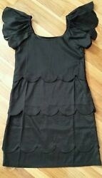 Super cute For Joseph 3 tiers Lace wave Little Black Dress XS $12.00