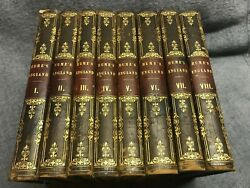 Antique Set DAVID HUME#x27;s HISTORY OF ENGLAND Printed in 1775 COMPLETE RARE Gift $899.00