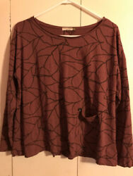 Chalet Brown Tunic Size Small Polyester Blend