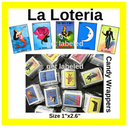 60 La Loteria Mexicana Fiesta Party. For Hershey Candy Wrappers. Party Favors $6.00