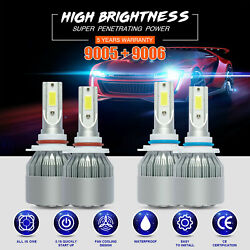 9005 9006 Combo LED Headlight  for Toyota Corolla 01-2013 High Low 6000K 3600W