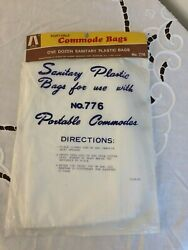 Sanitary Plastic Bags 12 for use with Portable Commodes Toilet Liners $2.45