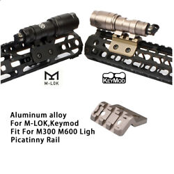 Tactical Flashlight Mount with 20mm Rail For M300 M600 Scout Light M LOK Keymod $13.22