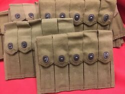 Authentic WWII Thompson 5 Pocket Canvas Mag Pouch N.O.S.