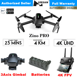 Hubsan Zino Pro Drone Ultra HD 4K Quadcopter with 4KM FPV 3-Axis Gimbal Camera $399.00