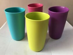 TUPPERWARE Outdoor Tumbler 400 ml 4 Pc Multicolor Tumbler Drinking party Juice.. $22.99