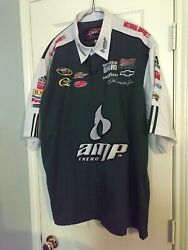 Size:2XL Dale Earnhart Jr NASCAR PitCREW Shirt JR Nation 'AMP Energy' by: ADIDAS