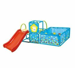 Activity Play Gym Set Ball Pit Slide Toss Target Portable Durable Hours Of Fun
