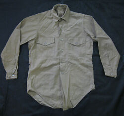 US NAVY MARINES VIETNAM Shirt Man's Cotton Poplin Soft Collar Vietnam 1965 KHAKI