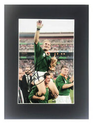 Signed Francois Pienaar Photo Display Rugby World Cup 1995 COA GBP 599.99